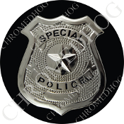 Premium Round Decal - Special Police Badge - B2
