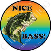 Premium Round Decal - Bass - Nice Bass!
