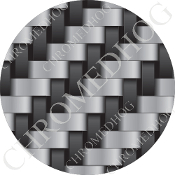 Premium Round Decal - Carbon Fiber