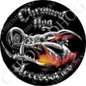Premium Round Decal - Chromed Hog® Logo