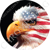 Premium Round Decal - Eagle - American L