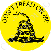 Premium Round Decal - Don't Tread on Me