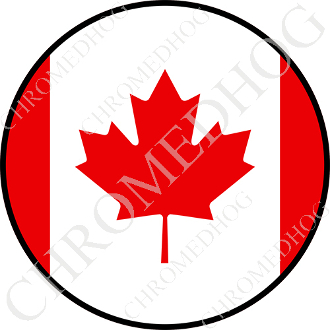 Premium Round Decal - Flag - Canada