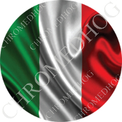Premium Round Decal - Flag - Italy