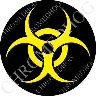 Premium Round Decal - Hazard - Yellow
