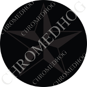 Premium Round Decal - Star - Gray/ Black
