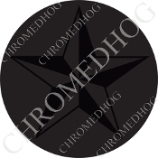 Premium Round Decal - Star - Black/ Gray