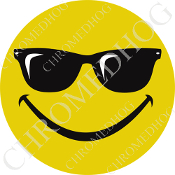 Premium Round Decal - Smile Face Shades