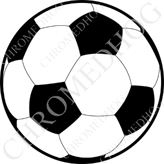 Premium Round Decal - Soccer Ball - NS
