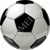 Premium Round Decal - Soccer Ball - S