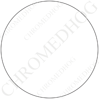 Premium Round Decal - Solid - White