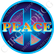 Premium Round Decal - Peace