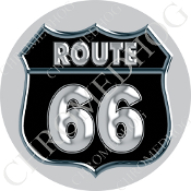 Premium Round Decal - Route 66