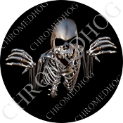 Premium Round Decal - Skeleton - Black NF