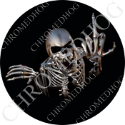Premium Round Decal - Skeleton - Black