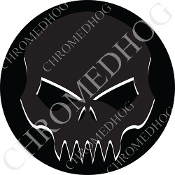 Premium Round Decal - Evil Skull - Ghost