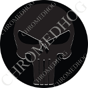 Premium Round Decal - Punisher Skull - Ghost