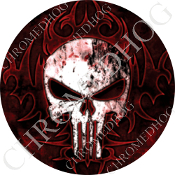 Premium Round Decal - Punisher Skull - ORB
