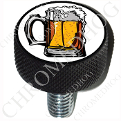 Harley Custom Seat Bolt - L KN Black Billet - Beer Mug