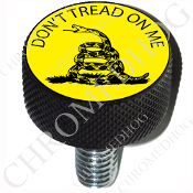 Harley Custom Seat Bolt - L KN Black Billet - Don't Tread on Me