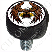Harley Custom Seat Bolt - L KN Black Billet - Eagle - Flying - W
