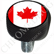 Harley Custom Seat Bolt - L KN Black Billet - Flag - Canada
