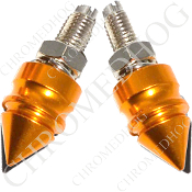 Pike Spike License Frame Bolts - Gold - Set of 2