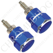 Hex License Plate Frame Bolts - Blue - Set of 2