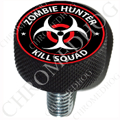Harley Custom Seat Bolt - L KN Black Billet - Zombie Hunter RW