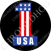 Premium Round Decal - #1 USA - Black
