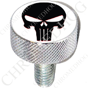 Harley Custom Seat Bolt - L KN Chrome Billet - Punisher - B/W