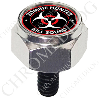 Harley Custom Seat Bolt - Hex Silver Billet - Zombie Hunter RW
