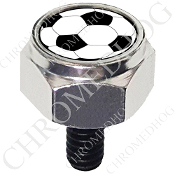 Harley Custom Seat Bolt - Hex Silver Billet - Soccer Ball NS