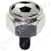 Harley Custom Seat Bolt - Hex Silver Billet - Soccer Ball S