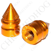 Pike Spike Valve Stem Caps - Gold - Set of 2