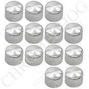 13 Chrome Cap Dress Kit for 07-15 Big Twin Primary Bolts