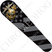 08-Up FLHX Street Glide Dash Insert Decal - USMC EGA Ghost Flag