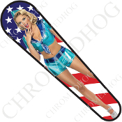 08-Up FLHX Street Glide Dash Insert Decal - Pin Up Sailor Flag