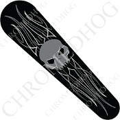 08-Up FLHX Street Glide Dash Insert Decal - Skull Evil Gray PS2B