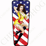 08-15 Ultra & Electra Glide Dash Insert - Pin Up Dress Flag