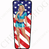 08-15 Ultra & Electra Glide Dash Insert - Pin Up Sailor Flag
