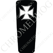 08-15 Ultra & Electra Glide Dash Insert - Iron Cross WB