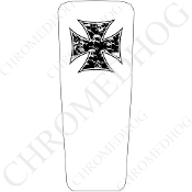 08-15 Ultra & Electra Glide Dash Insert - Iron Cross SPW