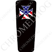 08-15 Ultra & Electra Glide Dash Insert - Iron Cross Flag B