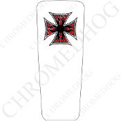 08-15 Ultra & Electra Glide Dash Insert - Iron Cross RFBW