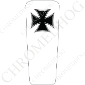 08-15 Ultra & Electra Glide Dash Insert - Iron Cross BW