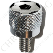 Harley Custom Seat Bolt - S KN Chrome Billet - Soccer Ball S