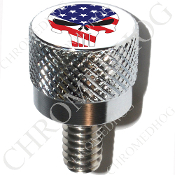 Harley Custom Seat Bolt - S KN Chrome Billet - S Punisher Flag/W