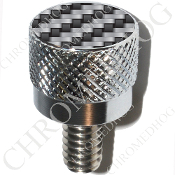 Harley Custom Seat Bolt - S KN Chrome Billet - Carbon Fiber