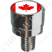 Harley Custom Seat Bolt - S SM Chrome Billet - Flag Canadian